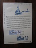 Premier Jour -collection Historique Du Timbre-poste Français - Porte Hélicoptères Jeanne D'arc (2009) - Documents De La Poste