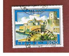 ITALIA REPUBBLICA  - SASS. 1719  -      1985  TURISTICA: TERMOLI     -      USATO - 6. 1946-.. República