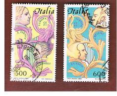 ITALIA REPUBBLICA  - UNIF. 1735.1736    -      1985  EUROPA     -      USATO - 6. 1946-.. República