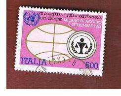 ITALIA REPUBBLICA  - SASS. 1730 -      1985  PREVENZIONE DEL CRIMINE     -      USATO - 6. 1946-.. República