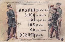 CPA à Système (à Lire Dans Une Glace) Anti-Kaïser Guillaume II Caricature Satirique Prusse Illustrateur - Patrióticos