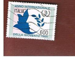 ITALIA REPUBBLICA  - SASS. 1731 -      1985  ANNO DELLA GIOVENTU      -      USATO - 6. 1946-.. República