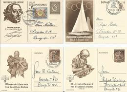 DR 4 Ganzsachen Gelaufen Sonderstempel Olympia - Allemagne