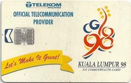 Malaysia - Telekom Malaysia - Kuala Lumpur '98 Let's Make It Great - 1998, Chip 20RM, Used - Malaysia