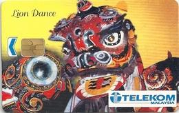 Malaysia - Telekom Malaysia - Lion Dance - Chip 10RM, Used - Malaysia