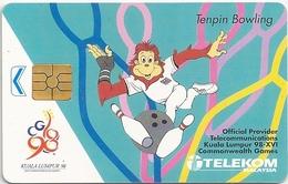 Malaysia - Telekom Malaysia - Tenpin Bowling - 1998, Chip 50RM, Used - Malaysia