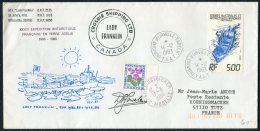 1983 TAAF Antarctic, Lady Franklin Canada Ship Cover. Expedition, Dumont D'Urville, France Koenigsmacker, Moselle - French Southern And Antarctic Territories (TAAF)