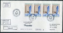 1989 TAAF Antarctic Alfred Faure Crozet Paquebot Ship Cover. Lowloand Lancer London - Le Muids, Switzerland - French Southern And Antarctic Territories (TAAF)