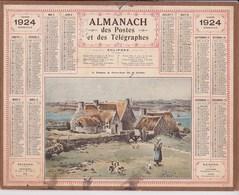 Almanach Des Postes Et Telegraphes 1924 Le Hameau De Pen Ar Bout Ile De Brehat - Grossformat : 1921-40