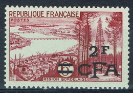 "Réunion Island, ""Bordeaux"", French Stamp Overprint, 1955, MNH VF - Reunion Island (1852-1975)"