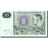 Billet, Suède, 10 Kronor, 1976, 1976, KM:52d, TTB+ - Suède