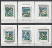Libya Soccer Football Fussball 1985 Mi Bk#100-105 MNH - 1986 – Mexico