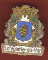 52852-Pin's.la Valette Du Var.blason.signé Saggay. - Villes