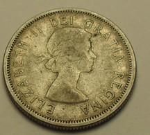 1964 - Canada - 25 CENTS, ELIZABETH II, Argent, Silver, KM 52 - Canada