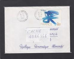 """LETTRE DE EPINAY SOUS SENART POUR LA D.D.R. AVEC TIMBRE """"EXCOFFON"""". - Frankreich"""