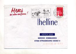 Lettre Flamme Bellerive Cheval - Poststempel (Briefe)