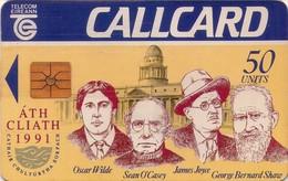 TARJETA TELEFONICA DE IRLANDA, 1991 CULTURE CAPITAL, MARLBOROUGH. 1032a (004) - Ireland