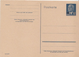 Germany Mint Revalued Postal Stationery Card ( Ganzsache) With President Pieck - [6] Democratic Republic