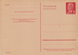 Germany Mint Postal Stationery Card ( Ganzsache) With President Pieck - [6] Democratic Republic