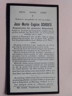 DP Jean-Marie SCHOOFS ( Burgemeester DIEPENBEEK ) Diepenbeek 12 Mei 1855 - 13 April 1938 ( Zie Foto's ) ! - Décès