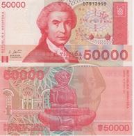 (B0399) CROATIA, 1993. 50000 Dinara. P-26a. UNC - Croatie