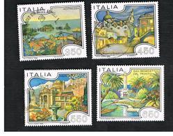 ITALIA REPUBBLICA  - UNIF. 1767.1770     -      1986  TURISTICA:     -      USATO - 6. 1946-.. República
