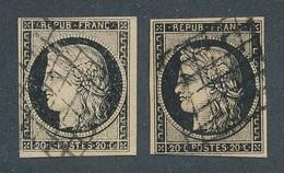 CB-15: FRANCE: Lot Avec N°3(2) Obl - 1849-1850 Cérès