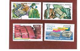 ITALIA REPUBBLICA  - UNIF. 1787.1790    1986  LAVORO ITALIANO   -      USATO - 6. 1946-.. República