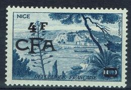 "Réunion Island, ""Nice"", French Stamp Overprint, 1955, MNH VF - Réunion (1852-1975)"