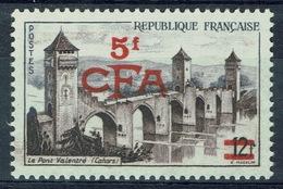 "Réunion Island, ""Cahors"", French Stamp Overprint, 1955, MNH VF - Reunion Island (1852-1975)"
