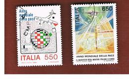 ITALIA REPUBBLICA  - SASS. 1789.1790  -      1986    ANNO DELLA PACE  -      USATO - 6. 1946-.. República