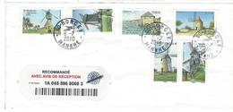 Lettre Recommandée:Oblitération RONCEY Sur Timbres Du BF Les Moulins. - Marcophilie (Lettres)