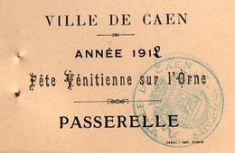 VP12.098 - 1912 - Carte / Carton D'invitation De La Ville De CAEN Pour La Fête Vénitienne Sur L'Orne - Sin Clasificación