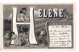 Prénoms 051, Prénom Hélène, Alpahabet Lettre H Avec Enfants - Firstnames
