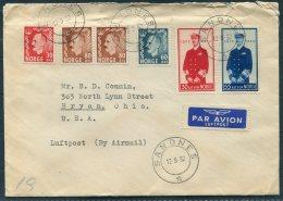 1952 Norway Sandnes Airmail Cover - Bryan, Ohio, USA. Haakon Birthday - Norway