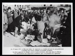 1980  --  BAR SUR AUBE 19 MARS 1911 MANIFESTATION DE VIGNERONS   3P592 - Old Paper