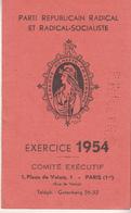 Carte Du PARTI RÉPUBLICAIN RADICAL Et RADICAL SOCIALISTE 1954 - Partiti Politici & Elezioni