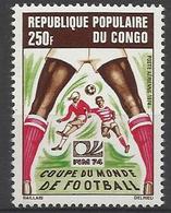 Foot Ball Soccer** MNH Allemagne 74  Congo 189A88+A90 Coupe  Du Monde 1974 - Coppa Del Mondo