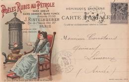 Paris - J.Ristelhueber - Poëles Rubis Au Pétrole - 1900 - Advertising