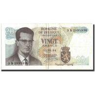 Billet, Belgique, 20 Francs, 1964, 1964-06-15, KM:138, TB+ - 50 Francs