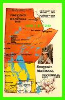 CARTES GÉOGRAPHIQUES - MAPS - PROVINCE OF MANITOBA IN 1912 - MARTIN KAVANAGH - - Cartes Géographiques