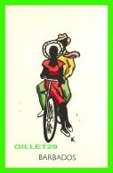 BARBADOS - COUPLE ON A  BIKE - NANK  DESIGN - - Barbades
