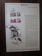 Premier Jour - Collection Historique Du Timbre-poste Français - Belfort - Territoire De Belfort (2012) - Documentos Del Correo