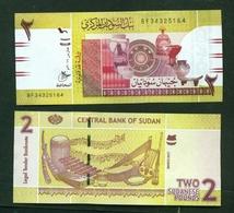 SUDAN  -  2017  2 Sudanese Pounds UNC - Sudan