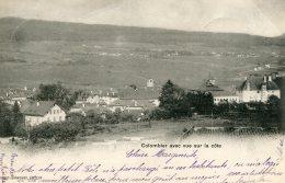 SWITZERLAND - Colombier Avec Vue Sur La Cote - VG Postmarks 1901 - Undivided Rear - NE Neuchâtel