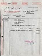 Négociant En Vins - A. Delor & Cie Bordeaux Pour Jodoigne 1955 - France