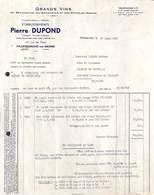 Grands Vins Pierre Dupond, Villefranche Pour Lazard, Jodoigne, 1956 - France
