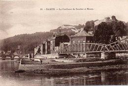 NAMUR-LE CONFLUENT DE SAMBRE ET MEUSE-ANNI 1920-NON VIAGGIATA - Namur