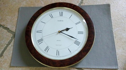 VEDETTE - HORLOGE DE CUISINE MURALE - DECO BAKELITE (3cm) - CADRAN 30cm -  QUARTZ - VINTAGE - Horloges