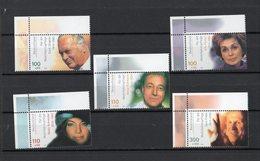 R.F.T.  :  Beneficenza - Attori Celebri  5 Val.    MNH**   Del  12.10.2000 - [7] Repubblica Federale